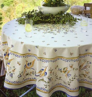 Moustier a small mountain village in Haute Provence famous for its dragon patterned ceramics and table linen